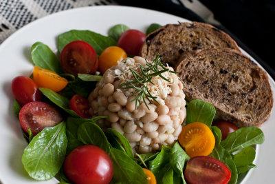 Bean Salad with Rosemary and Garlic