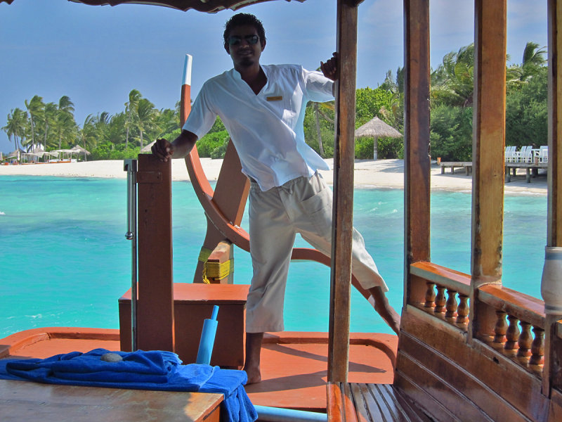 Steering the dhoni away from the beach