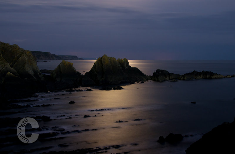 Screda point near Hartland in Moonlight
