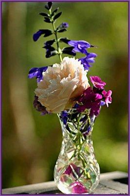 Vase of blues