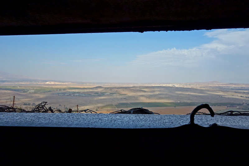 view from inside bunker