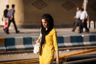 Woman walking - Tehran