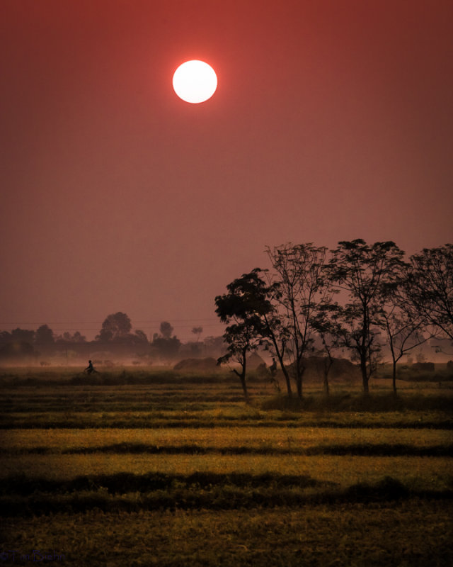 Sunset Near Chitwan National Park