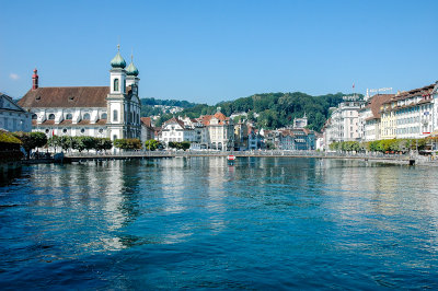 River Reuss with Jesuitenkirche on the left, Lucerne