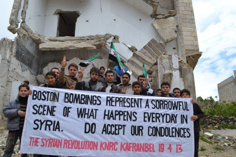 Message from Syrian rebels