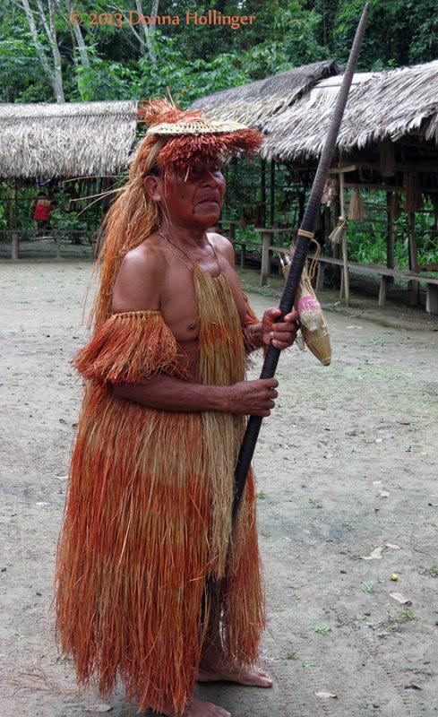 Yagua Chief with Blowgun