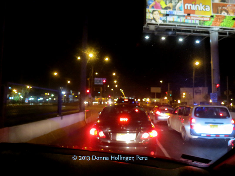 Driving into Lima from Airport