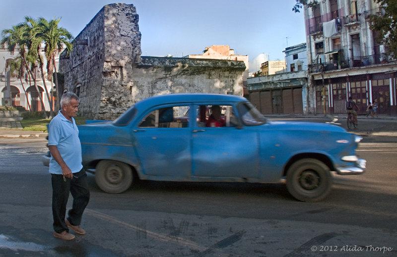pedestrian car