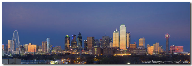 Dallas Skyline Panorama from East of Downtown