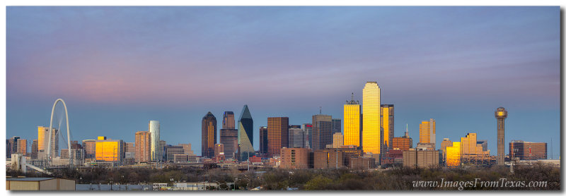 Dallas Skyline Panorama facing East from Downtown 2