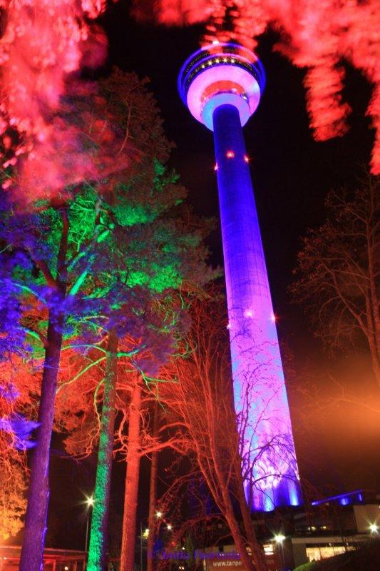 Tampere. Light Display Sci-fi