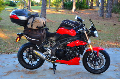 sport-touring - bags on a speed triple