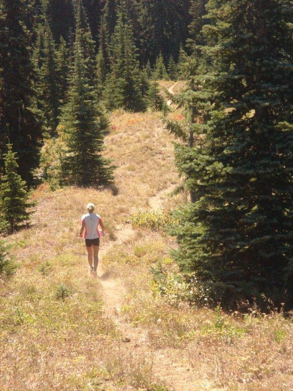 Lisa Henson on the trail