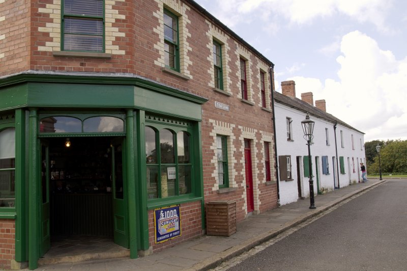 Corner shop and terraced houses