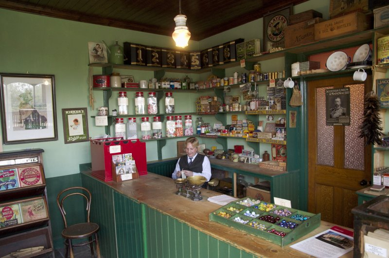 Inside the corner shop