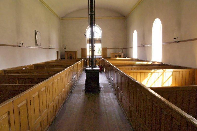 Box pews in the church