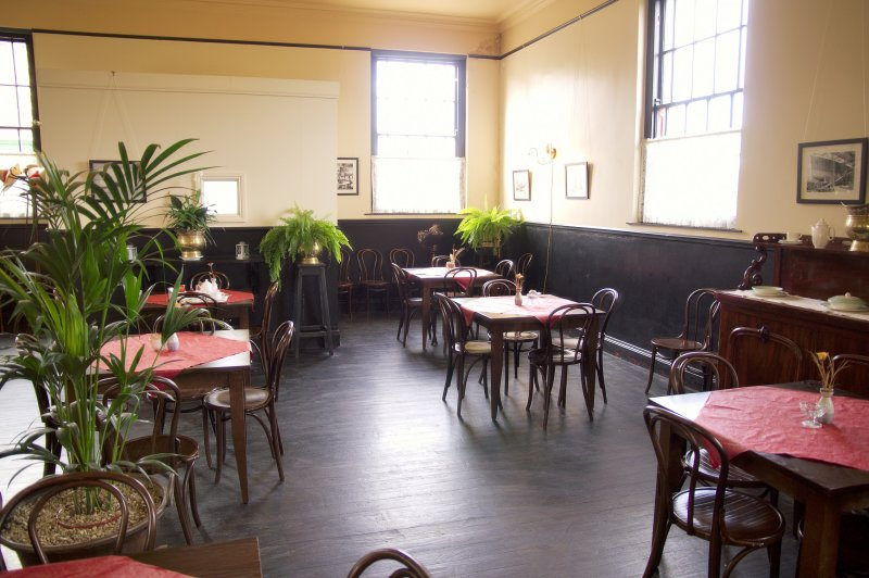 Inside the tea-room