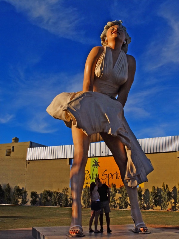 In Marilyn's shadow, Palm Springs, California, 2013