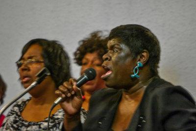 Gospel singer, Greater First Baptist Church, West Helena, Arkansas, 2012