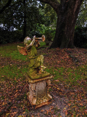 Rusting Angel, Houmas House Plantation, Darrow, Louisiana, 2012