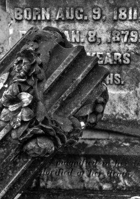 Fallen column, Rose Hill Cemetery, Macon, Georgia, 2013