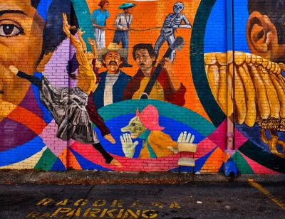Theatrical Mural, Little Five Points, Atlanta, Georgia, 2013