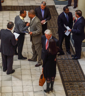 Face to face communication, Atlanta State Capitol, Atlanta, Georgia, 2013