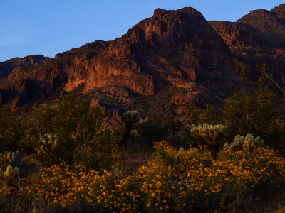 Dusk in the Superstition Mountains, Gold Canyon, Arizona, 2013