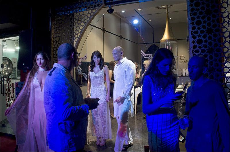 Strobe Lighting on Fashion Night in Kikar Hamedina.jpg