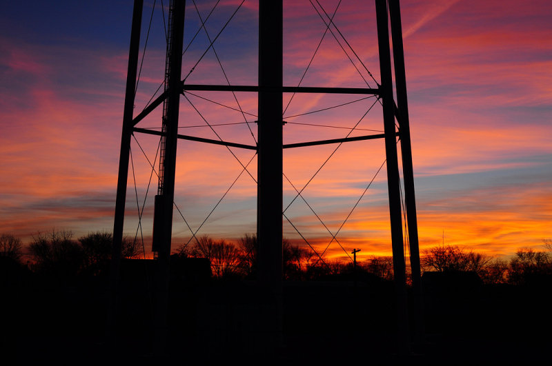 Albany Water Tower Base at Sunrise