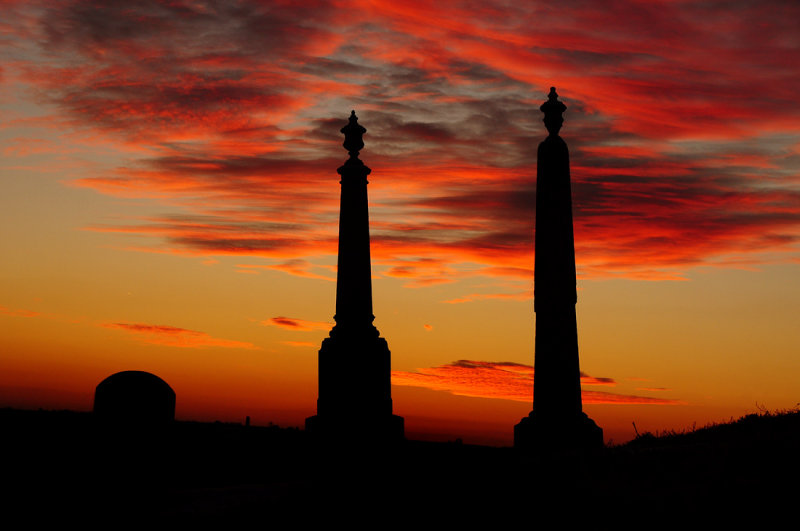 Sunset at Hall Bottom Cemetery