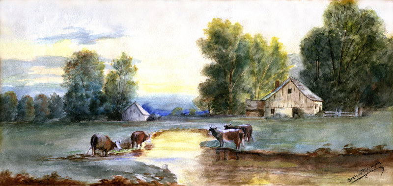 Beatrice McIntyre Farmstead Water Color