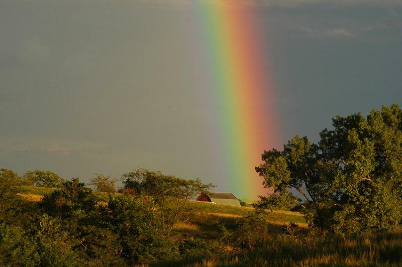Rainbow with Barn