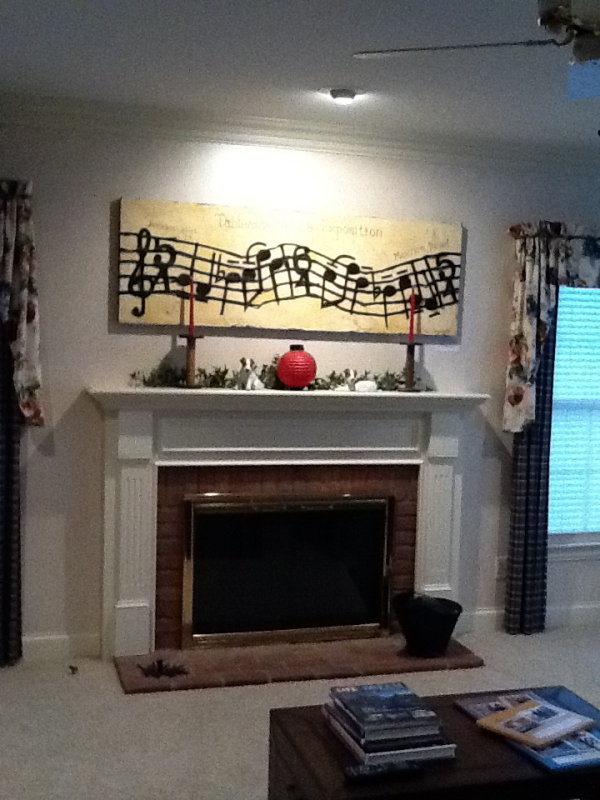 Pictures over mantle