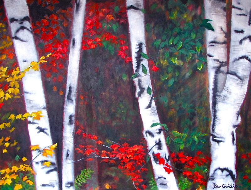 View Through the Birches
