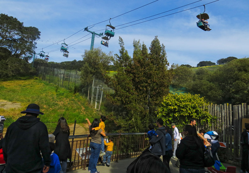 The viewing area and Skyrides above. #0847