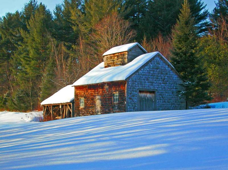 Sugar House in the Snow