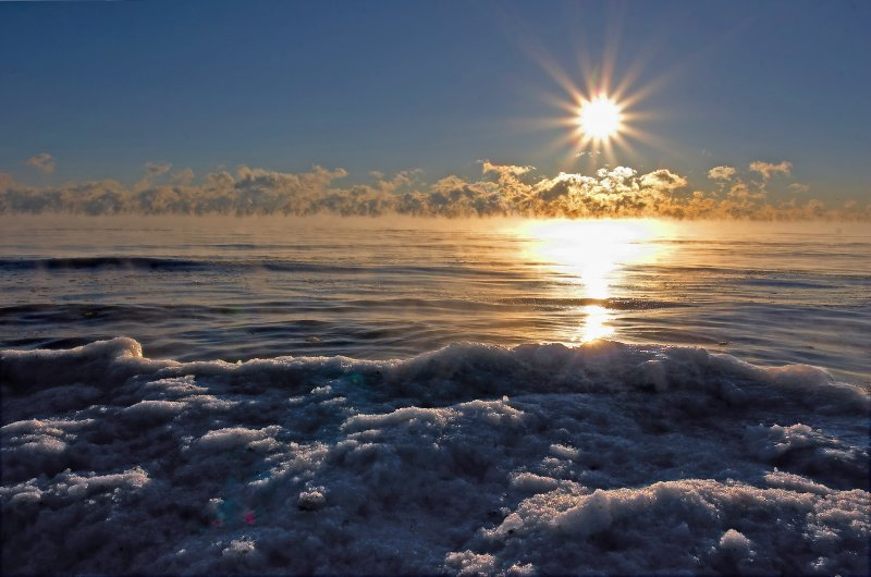 Very Cold Lake Michigan