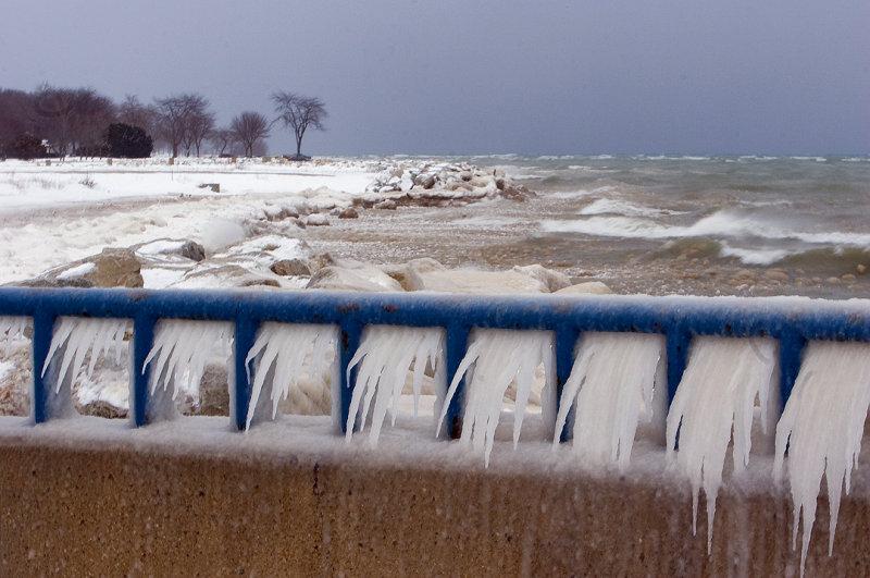 Winter Storm on Lake Michigan