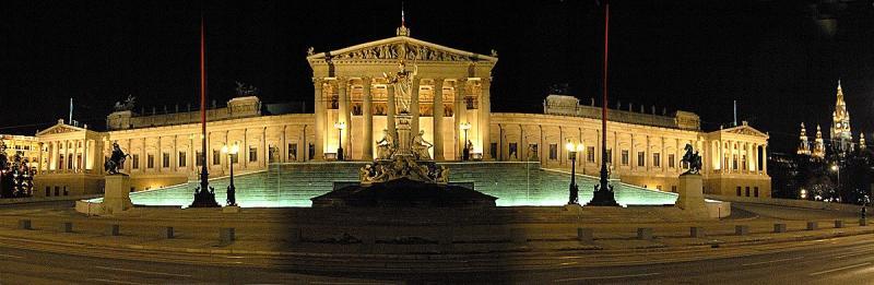 Das österreichische Parlament, Wien, Vienna