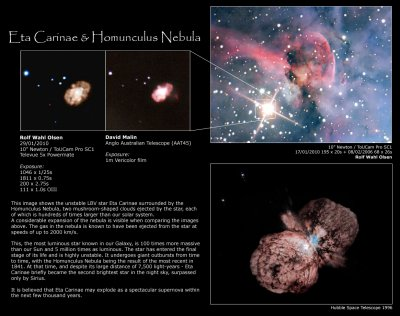 Visible expansion of the Homunculus Nebula around Eta Carinae photo - Rolf  Olsen photos at pbase.com
