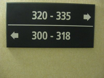 Our room is 319!  Where is it?