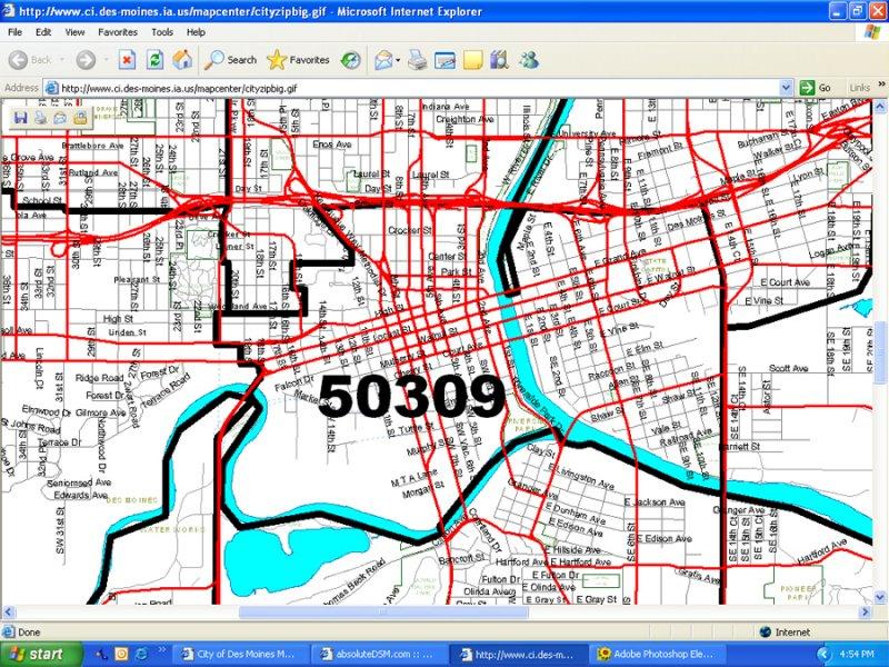 Downtown Des Moines BoundariesPopulation urbanDSMcom
