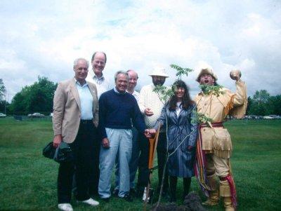 Dedication of the Fletcher Wildlife Garden, June 1990
