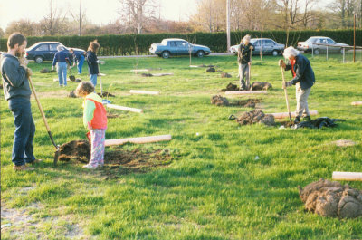 Planting the New Woods,  spring 1992