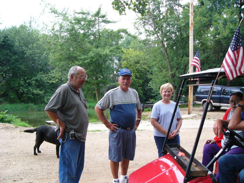 Welcome Committee at Rose Mill Park-Rutland IA
