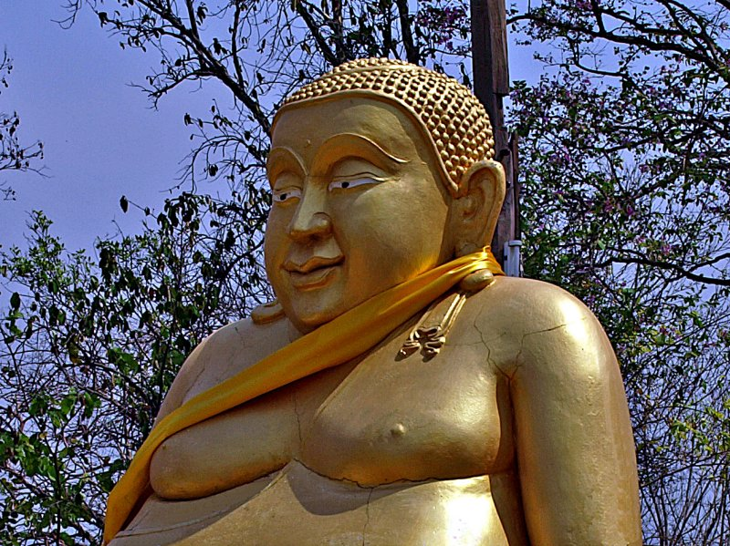 Fat happy Budda, close up