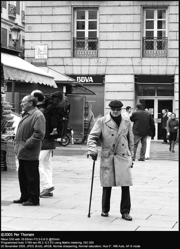 Old spanish guy B&W