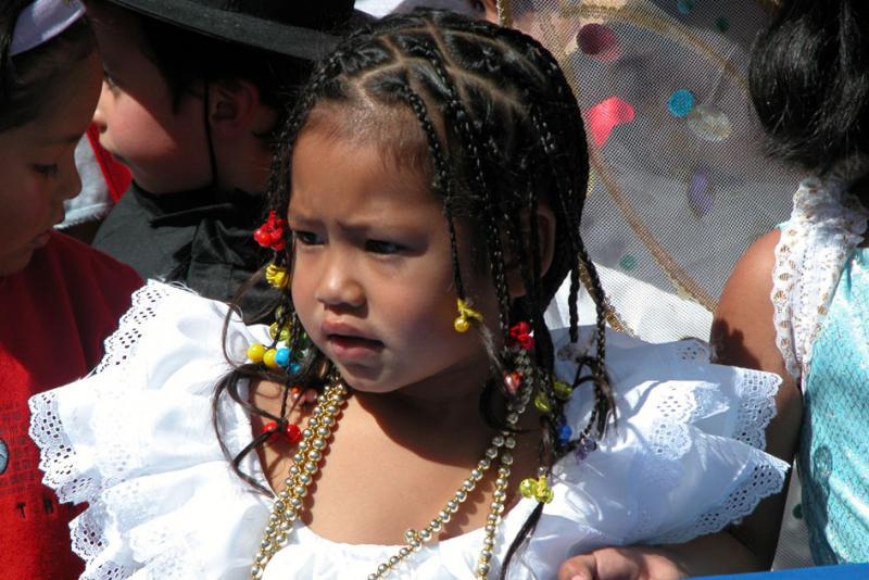 School girl, Plaza de Armas