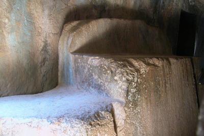 Ceremonial altar at Qenko cave